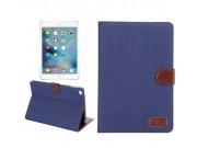 Чехол-обложка для iPad Mini синий из настоящей джинсы с кармашком для iPhone..
