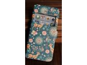 Фирменный чехол-книжка с безумно красивым расписным рисунком Оленя в цветах на iPhone 4/4S с окошком для звонк..