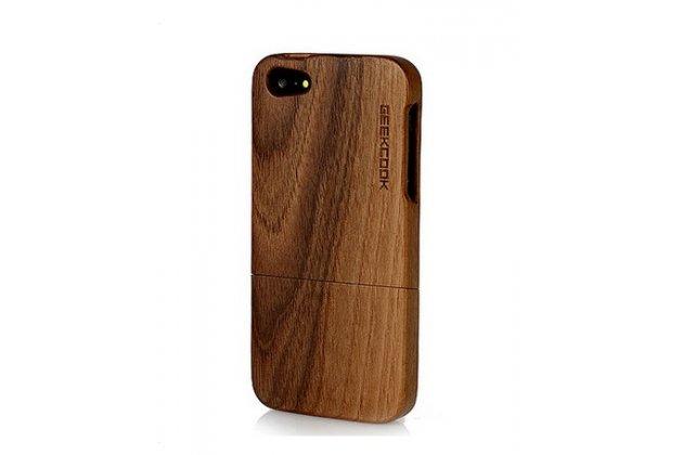 Деревянная из натурального бамбука задняя панель-крышка-накладка для iphone 4/4s