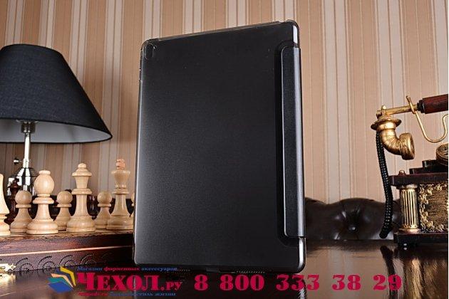 """Умный чехол-книжка самый тонкий в мире для ipad pro 9.7"""" """"il sottile"""" черный кожаный"""