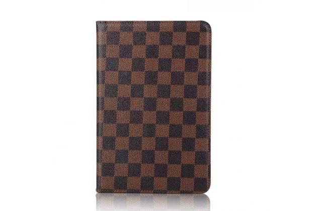 """Чехол-книжка из кожи с мульти-подставкой и застёжкой для ipad pro 9.7"""" коричневый в клетку"""