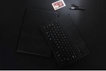 """Чехол со съёмной bluetooth-клавиатурой для  ipad pro 9.7"""" черный  кожаный + гарантия"""