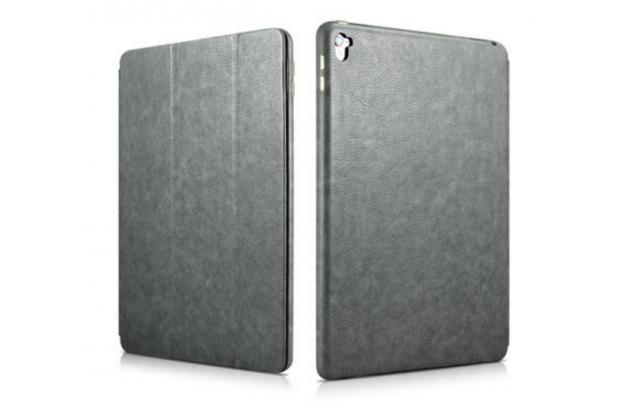 """Премиальный чехол бизнес класса для ipad pro 9.7"""" из качественной импортной кожи серый"""