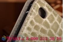 Чехол для ipad mini 4 лаковая кожа крокодила серый