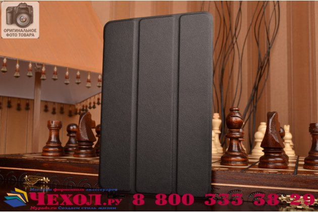 """Умный чехол-книжка самый тонкий в мире для ipad mini 4 """"il sottile"""" черный кожаный"""