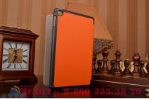 """Умный чехол-книжка самый тонкий в мире для ipad mini 4 """"il sottile"""" оранжевый кожаный"""