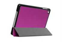 """Умный чехол-книжка самый тонкий в мире для ipad mini 4 """"il sottile"""" фиолетовый кожаный"""