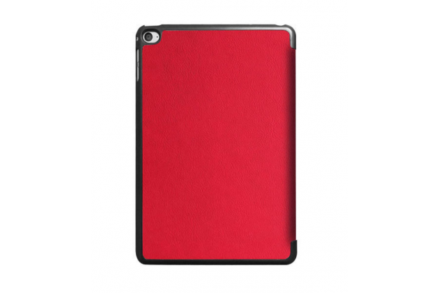 """Умный чехол-книжка самый тонкий в мире для ipad mini 4 """"il sottile"""" красный кожаный"""