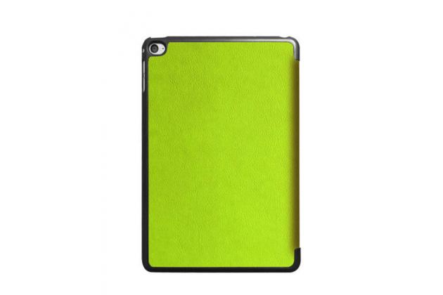 """Умный чехол-книжка самый тонкий в мире для ipad mini 4 """"il sottile"""" зеленый кожаный"""