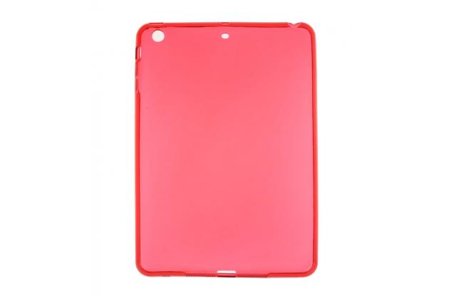 Ультра-тонкая полимерная из мягкого качественного силикона задняя панель-чехол-накладка для ipad mini 4 красная