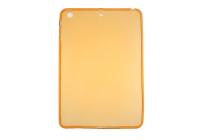 Ультра-тонкая полимерная из мягкого качественного силикона задняя панель-чехол-накладка для ipad mini 4 золотая