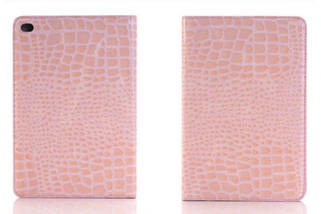 Чехол для ipad mini 4 лаковая кожа крокодила розовый