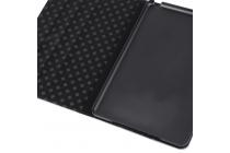 Чехол-обложка для ipad mini 4 в клетку белый кожаный