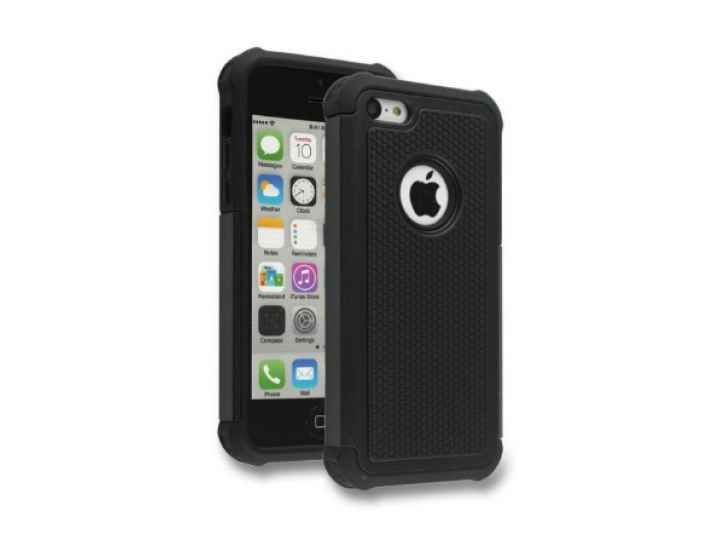 Противоударный усиленный ударопрочный чехол-бампер-пенал для iphone 5/5s/se/5se черный..