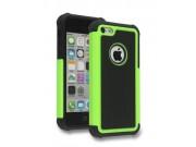 Противоударный усиленный ударопрочный фирменный чехол-бампер-пенал для IPhone 5/5S/SE/5SE зелёный..