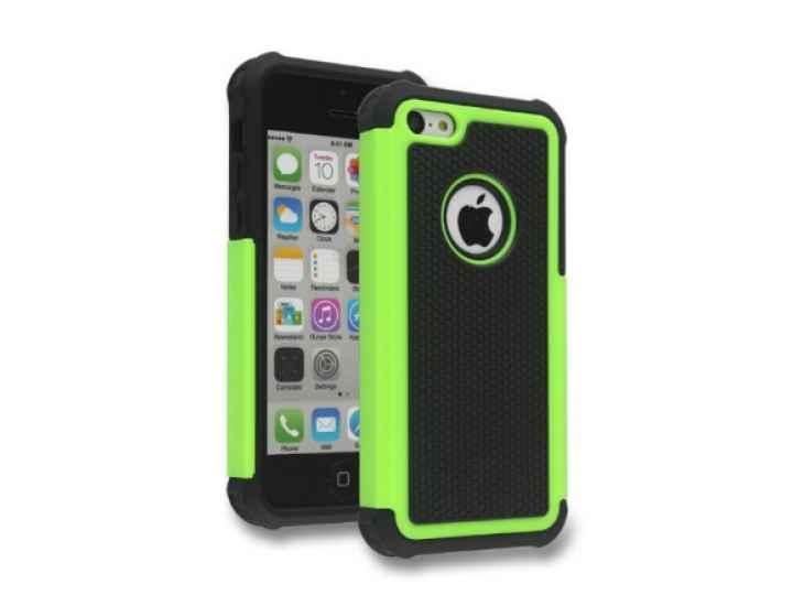 Противоударный усиленный ударопрочный чехол-бампер-пенал для iphone 5/5s/se/5se зелёный..