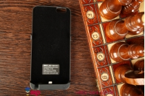 """Чехол-бампер со встроенной усиленной мощной батарей-аккумулятором большой повышенной расширенной ёмкости 10000mAh для iPhone 6 Plus / iPhone 6S Plus 5.5"""" черный + гарантия"""