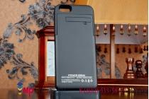 """Чехол-бампер со встроенной усиленной мощной батарей-аккумулятором большой повышенной расширенной ёмкости 4000mAh для iPhone 6 / iPhone 6S  4.7"""" черный + гарантия"""