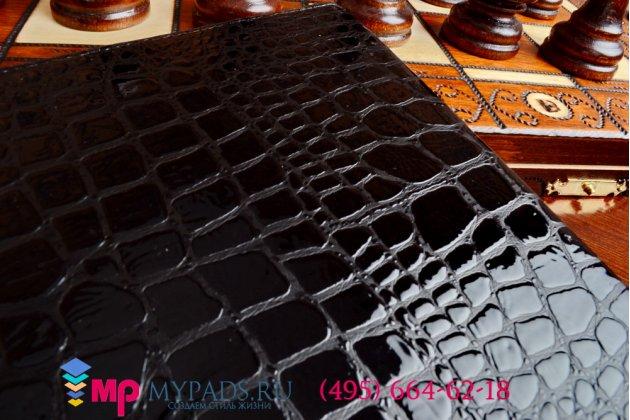 Чехол для ipad air 2 кожа крокодила брутальный черный