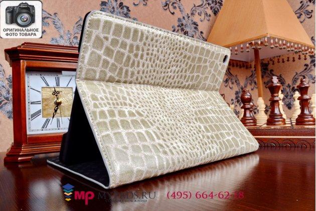 Чехол-футляр для ipad air 2 mh1c2/g2/172/182/mgcx2/mghy2/mglw2/12/mgwm2/mgkm2/mgty2/mgtx2 лаковая кожа крокодила серый