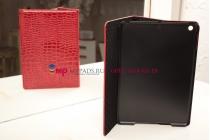 Чехол с мульти-подставкой для ipad air 1 лаковая кожа крокодила алый огненный красный
