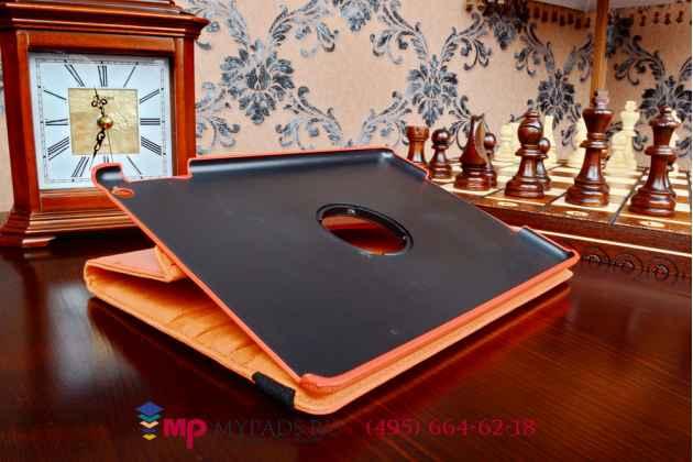 Чехол для ipad air 1 поворотный роторный оборотный оранжевый кожаный