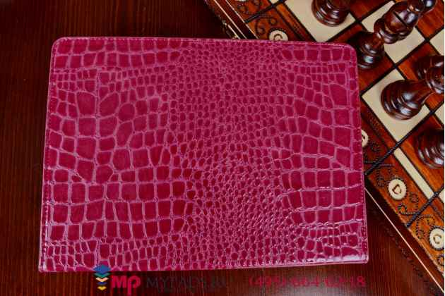 Чехол для ipad air 2 кожа крокодила цвета фуксии малиновый