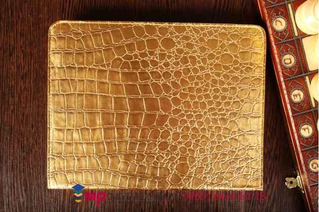 Чехол для apple ipad 2/3/4 кожа крокодила золотой. количество строго ограничено.