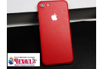 Оригинальная эксклюзивная задняя кожаная наклейка (из натуральной кожи) для iPhone 7 4.7 PRODUCT RED Special Edition красная