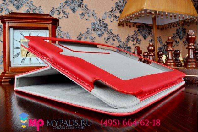 """Чехол-футляр для первого айпада ipad 1 """"тематика pretty cute"""" красный кожаный"""