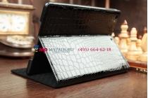Чехол с мульти-подставкой для ipad air 1 кожа крокодила брутальный черный