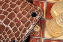 Чехол-футляр с мульти-подставкой для ipad air 1 кожа крокодила шоколадный коричневый