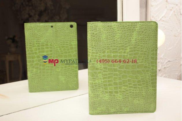Лаковая блестящая кожа под крокодила чехол для ipad air 1 md794/791/795/792785/788789796/793/987 ru/a зеленый