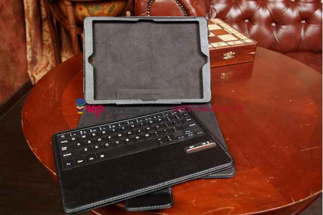 Чехол со съёмной bluetooth-клавиатурой для ipad air 1 черный кожаный + гарантия