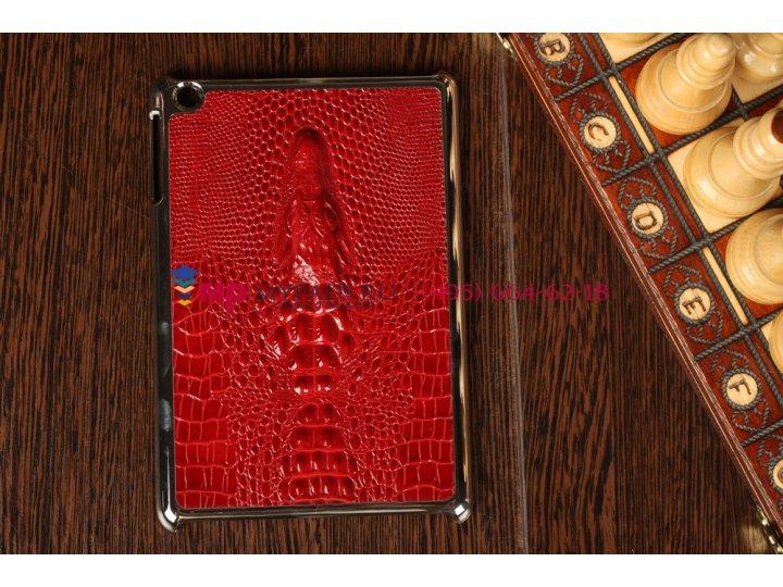 Алюминиевая задняя панель-крышка для ipad mini с объемным изображением крокодила..