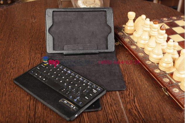 Чехол в комплекте с клавиатурой  для apple ipad mini /mini 2 retina/ mini 3 черный кожаный + гарантия