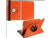 Чехол для iPad mini 1-го поколения поворотный роторный оборотный оранжевый кожаный..