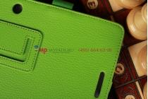 """Чехол-обложка для Asus MeMo Pad Smart ME301T/ME301TG с визитницей и держателем для руки зеленый кожаный """"Prestige"""" Италия"""