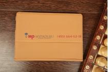 """Чехол-обложка для asus padfone 2 a68 с визитницей и держателем для руки коричневый кожаный """"prestige"""" италия"""