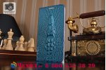 Роскошный эксклюзивный чехол с объёмным 3d изображением кожи крокодила синий для asus zenfone 3 laser zc551kl 5.5. только в нашем магазине. количество ограничено