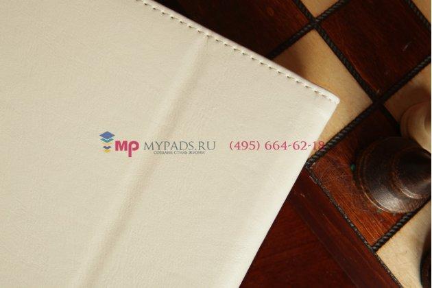 """Чехол для asus memo pad hd 7 me173x с визитницей и держателем для руки белый натуральная кожа """"prestige"""" италия"""