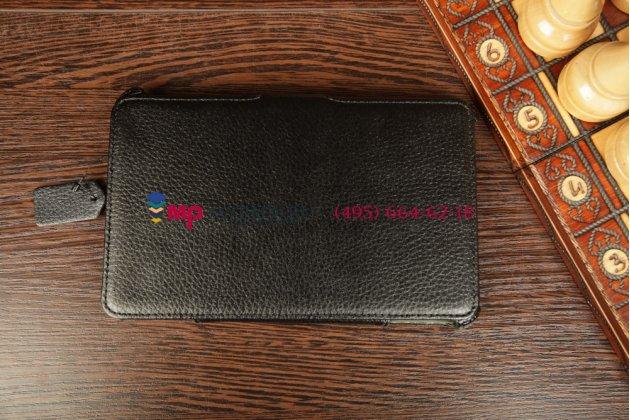 """Чехол для asus memo pad hd 7 me173x model k00b с мульти-подставкой и держателем для руки черный кожаный """"deluxe"""" италия"""