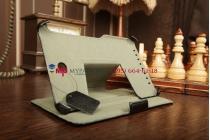 """Фирменный чехол для Asus MeMO Pad HD 7 ME173X model K00B с мульти-подставкой и держателем для руки черный кожаный """"Deluxe"""" Италия"""