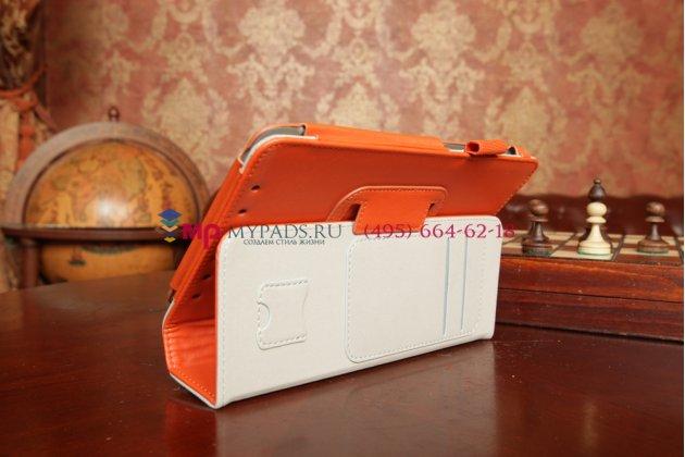 "Чехол для asus memo pad hd 7 me173x оранжевый натуральная кожа ""prestige"" италия"