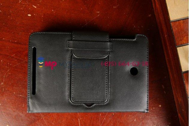Чехол со съёмной bluetooth-клавиатурой для asus memo pad hd 7 me173x model k00b черный кожаный + гарантия