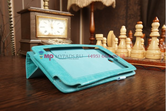 Чехол-обложка для asus memo pad hd 7 me173x slim бирюзовый кожаный