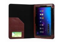 Чехол для ASUS Transformer Book T100HA / Z8500 10.1 Dock Keyboard коричневый с отделением под клавиатуру кожаный