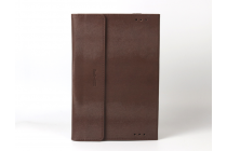 Фирменный оригинальный чехол для ASUS Transformer Book T100HA / Z8500 10.1 с отделением под клавиатуру коричневый кожаный