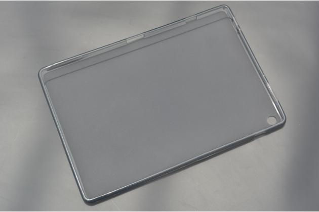 Ультра-тонкая полимерная из мягкого качественного силикона задняя панель-чехол-накладка для asus zenpad 10 z300cg/z300cl/z300c/zd300cl/z300m черная