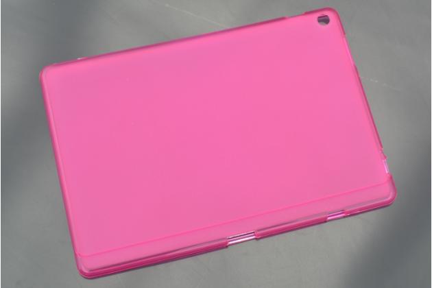 Ультра-тонкая полимерная из мягкого качественного силикона задняя панель-чехол-накладка для asus zenpad 10 z300cg/z300cl/z300c/zd300cl/z300m красная
